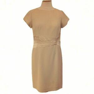 Amanda Smith Ivory Dress w/Satin Waist- Sz. 8P